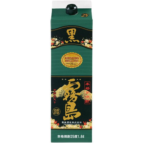 【あす楽!】霧島酒造 黒霧島チューパック 芋焼酎 25度 1.8L 2ケース(12本)