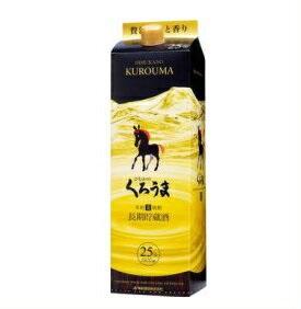 【送料無料】神楽酒造 黒馬長期貯蔵 本格麦焼酎 25度 1.8Lパック 1ケース(6本入)くろうま