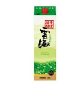 【送料無料】雲海酒造 雲海そば25° そば焼酎 25度 1.8Lパック 1ケース(6本入)