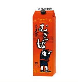 【送料無料】八鹿酒造 大分 本格焼酎 むぎっ娘 麦 25度 1.8Lパック(1800ml) 2ケース(12本)