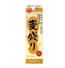 【送料無料】合同酒精株 麦盛り 麦焼酎 25度 1.8Lパック(1800ml) 2ケース(12本)