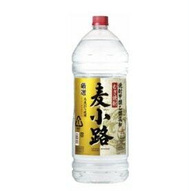 【送料無料】宝酒造 厳選麦小路 麦焼酎 25度 4L 1ケース(4本入)