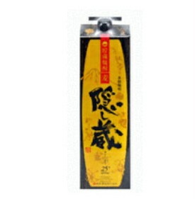 【あす楽・送料無料】濱田酒造 隠し蔵 本格麦焼酎 25度 1.8Lパック 1ケース(6本入)