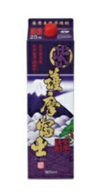 【送料無料】濱田酒造 紫薩摩富士 紫芋 芋焼酎 25度 1.8Lパック 2ケース(12本)