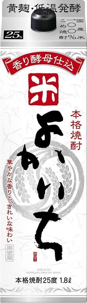 【送料無料・あす楽】 宝酒造 よかいち 米焼酎 25度 1.8L パック 2ケース(12本)