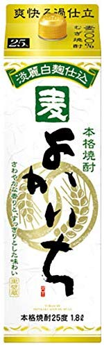 【送料無料・あす楽】 宝酒造 よかいち 麦焼酎 25度 1.8L 紙パック 2ケース(12本)
