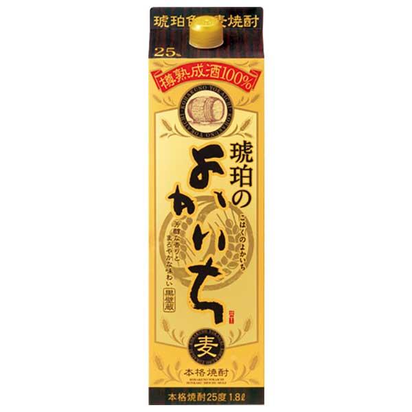 【送料無料・あす楽】 宝酒造 本格焼酎琥珀のよかいち 麦 25度 1.8L 紙パック 2ケース(12本)