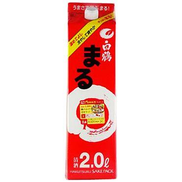 【送料無料】【あす楽対象商品!!】白鶴酒造 白鶴まる 日本酒 2L 2ケース(12本)