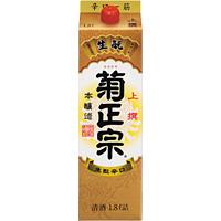 【送料無料】菊正宗酒造 菊正宗 上撰サケパック 本醸造 日本酒 1.8L 2ケース(12本)
