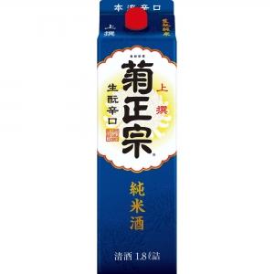 【送料無料】菊正宗酒造 菊正宗上撰 生もと純米酒 日本酒 1.8L 2ケース(12本)