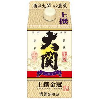 【送料無料!】大関 大関上撰金冠はこのさけ 日本酒 900mlパック 2ケース(12本)