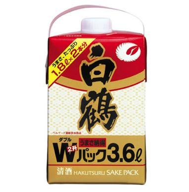 【送料無料!】(北海道・沖縄・離島は別途送料となります) 【送料無料】【あす楽!】白鶴酒造 白鶴ダブルパック 日本酒 3.6L 1ケース(2本入)