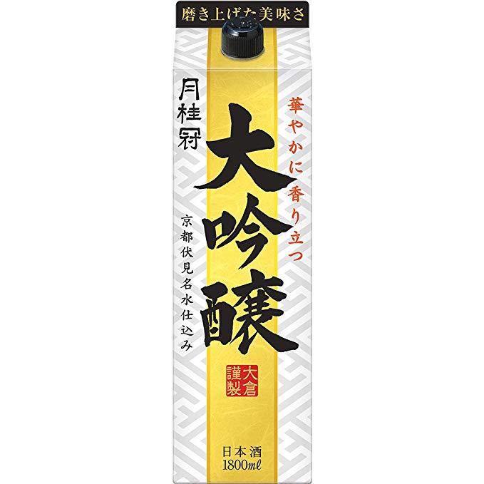 【あす楽】月桂冠 月桂冠 大吟醸パック 日本酒 1.8Lパック 1ケース(6本入)【送料無料】