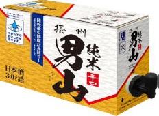 【送料無料!】小西酒造 摂州男山 辛口純米酒 日本酒 3L入り スリムバックインBOX(コック付き) 4本入り1ケース