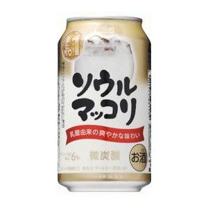 【送料無料】サントリー ソウルマッコリ 350ml 2ケース48本
