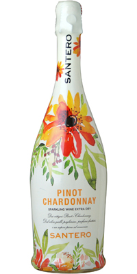 【年間EDLP】サンテロ ピノ シャルドネ フラワーボトル 750ml 白・発泡性 12本 611669【送料無料・ケース販売】