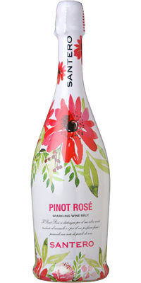 【年間EDLP】サンテロ ピノ ロゼ フラワーボトル 泡 750ml 12本 611670【送料無料・ケース販売】
