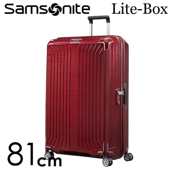 サムソナイト ライトボックス スピナー 81cm ディープレッド Samsonite Lite-Box Spinner 124L 79301【送料無料】※北海道・沖縄・離島を除く
