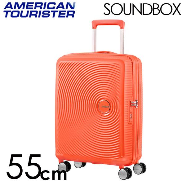 サムソナイト アメリカンツーリスター サウンドボックス 55cm スパイシーピーチ American Tourister Sound Box Spinner 35L~41L EXP【送料無料】