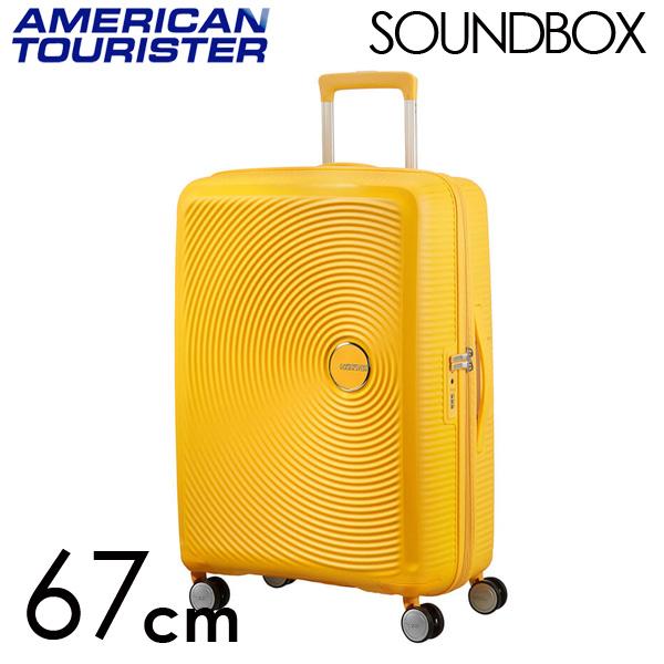 サムソナイト アメリカンツーリスター サウンドボックス 67cm ゴールデンイエロー American Tourister Sound Box Spinner 71L~81L EXP【送料無料】