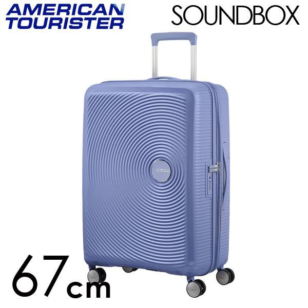 サムソナイト アメリカンツーリスター サウンドボックス 67cm デニムブルー American Tourister Sound Box Spinner 71L~81L EXP【送料無料】※北海道・沖縄・離島を除く