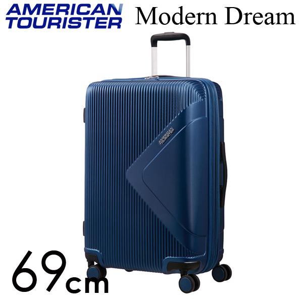 サムソナイト アメリカンツーリスター モダンドリーム 69cm トゥルーネイビー American Tourister Modern Dream Spinner 70L~81L EXP【送料無料】
