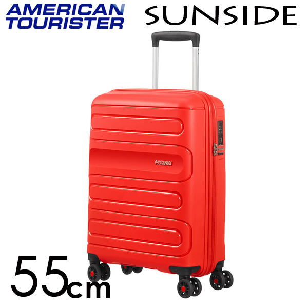 サムソナイト アメリカンツーリスター サンサイド 55cm サンセットレッド American Tourister Sunside Spinner 35L【送料無料】※北海道・沖縄・離島を除く