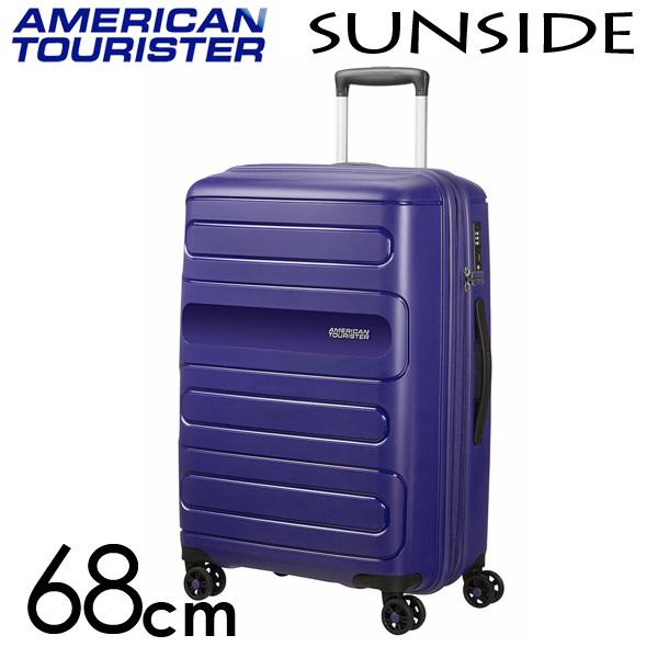 サムソナイト アメリカンツーリスター サンサイド 68cm ネイビー American Tourister Sunside Spinner 72.5L~83.5L EXP【送料無料】