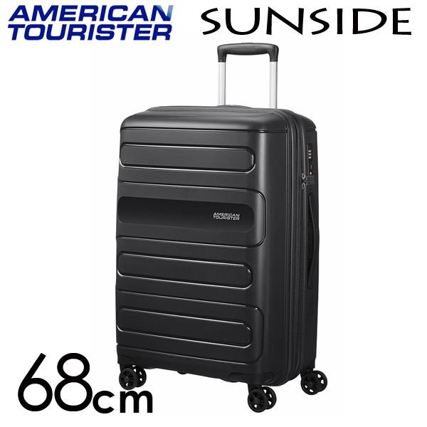 サムソナイト アメリカンツーリスター サンサイド 68cm ブラック American Tourister Sunside Spinner 72.5L~83.5L EXP【送料無料】