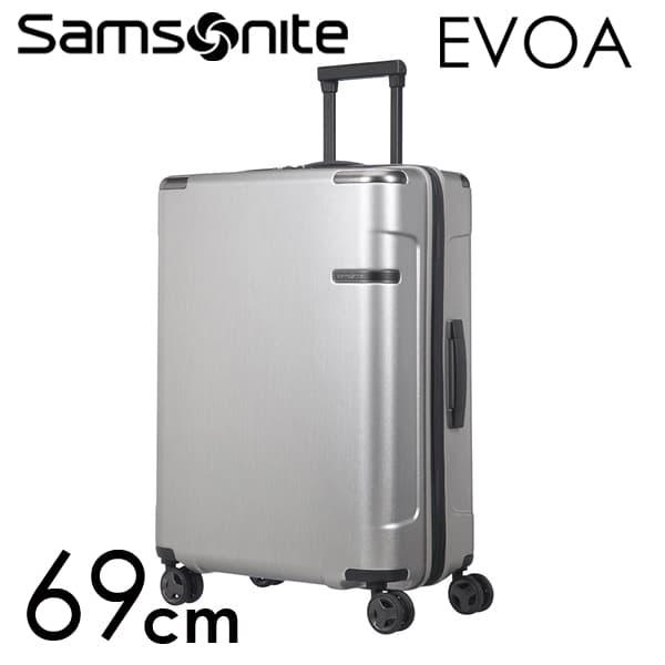 サムソナイト エヴォア スピナー 69cm ブラッシュドシルバー Samsonite Evoa Spinner 82L~95L EXP 111415-2848【送料無料】