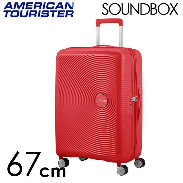 サムソナイト アメリカンツーリスター サウンドボックス 67cm EXP コーラルレッド 88473-1226【送料無料】