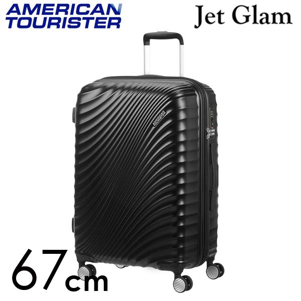 サムソナイト アメリカンツーリスター ジェットグラム 67cm メタリックブラック Jetglam 69.5L~77.5L EXP