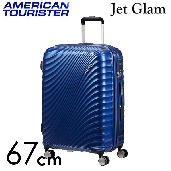 サムソナイト アメリカンツーリスター ジェットグラム 67cm メタリックブルー Jetglam 69.5L~77.5L EXP