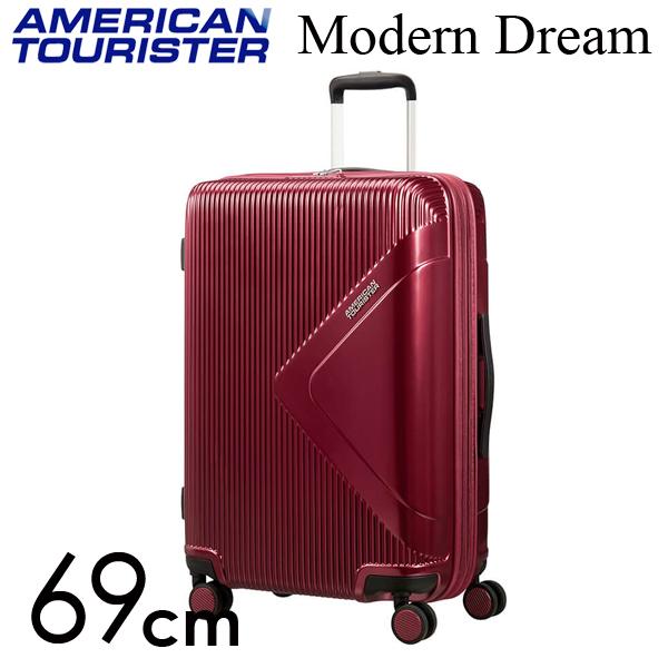サムソナイト アメリカンツーリスター モダンドリーム 69cm ワインレッド Samsonite American Tourister Modern Dream Spinner 70L~81L EXP【送料無料】