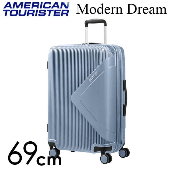 サムソナイト アメリカンツーリスター モダン ドリーム 69cm グレーブルー Modern Dream Grey Blue 70L~81L【送料無料】※北海道・沖縄・離島を除く