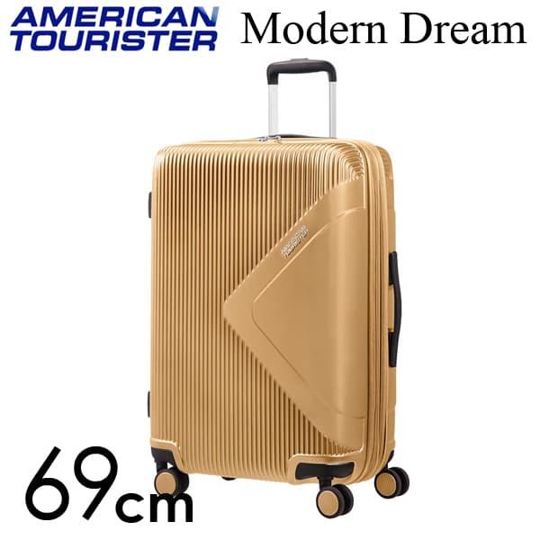 サムソナイト アメリカンツーリスター モダン ドリーム 69cm ゴールド Modern Dream Gold 70L~81L【送料無料】※北海道・沖縄・離島を除く