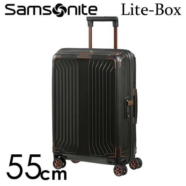 サムソナイト ライトボックス スピナー 55cm ブラックカッパー Samsonite Lite-Box Spinner 38L 79297-4340【送料無料】