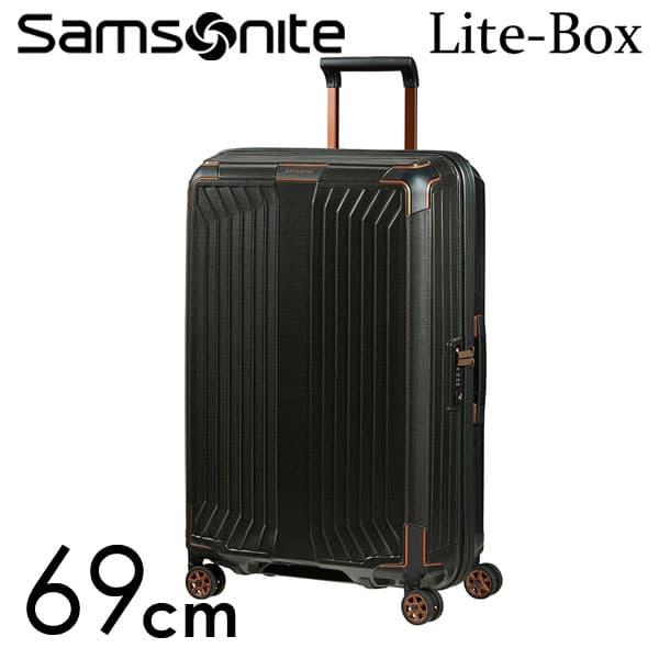 サムソナイト ライトボックス スピナー 69cm ブラックカッパー Samsonite Lite-Box Spinner 75L 79299-4340【送料無料】