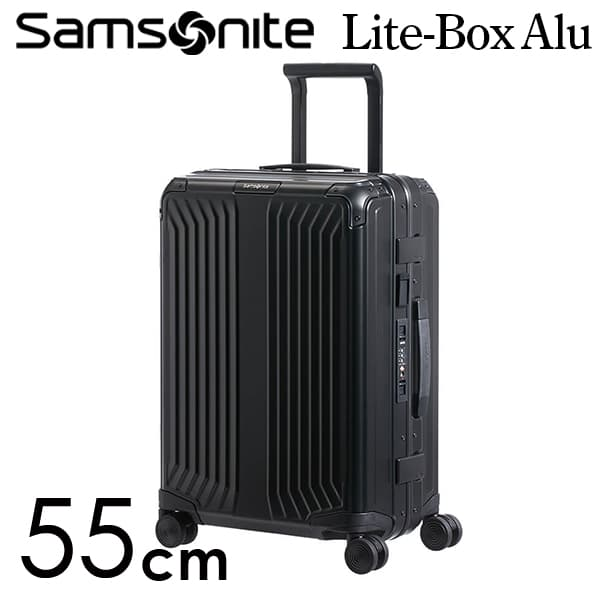 サムソナイト ライトボックス アル スピナー 55cm ブラック Samsonite Lite Box Alu Spinner 40L 122705-1041【送料無料】