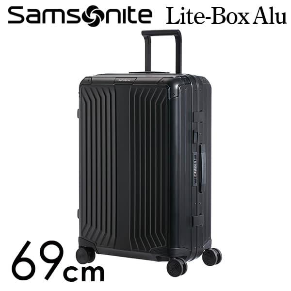 サムソナイト ライトボックス アル スピナー 69cm ブラック Samsonite Lite Box Alu Spinner 71L 122706-1041【送料無料】