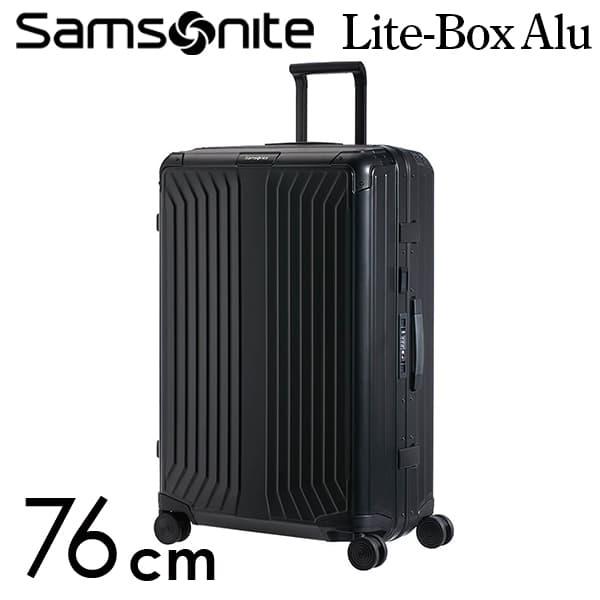 『期間限定ポイント10倍』サムソナイト ライトボックス アル スピナー 76cm ブラック Samsonite Lite Box Alu Spinner 91L 122707-1041【送料無料】※北海道・沖縄・離島を除く