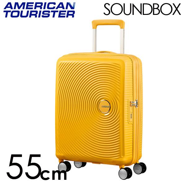 『期間限定ポイント10倍』サムソナイト アメリカンツーリスター サウンドボックス 55cm ゴールデンイエロー American Tourister Sound Box Spinner 35L~41L EXP【送料無料】