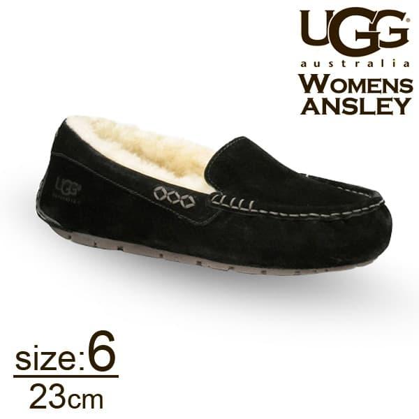 UGG アグ アンスレー ムートンシューズ ウィメンズ ブラック 6(23cm) 3312 Ansley【送料無料】