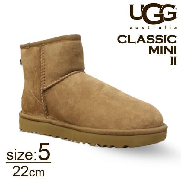 UGG アグ クラシックミニ II ムートンブーツ ウィメンズ チェスナット 5(22cm) 1016222 Classic Mini【送料無料】