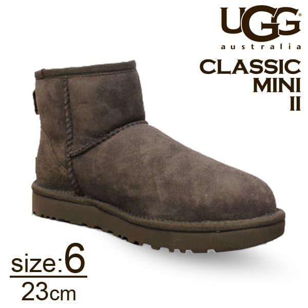 UGG アグ クラシックミニ II ムートンブーツ ウィメンズ チョコレート 6(23cm) 1016222 Classic Mini【送料無料】
