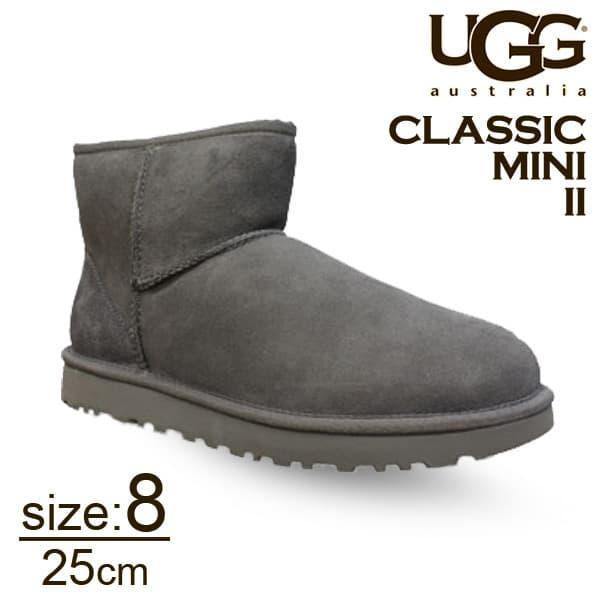 UGG アグ クラシックミニ II ムートンブーツ ウィメンズ グレー 8(25cm) 1016222 Classic Mini【送料無料】