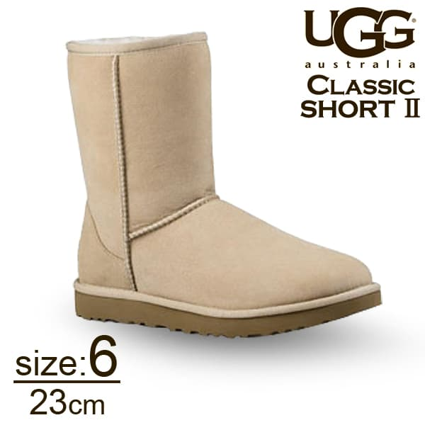 UGG アグ クラシックショート II ムートンブーツ ウィメンズ サンド 6(23cm) 1016223 Classic Short【送料無料】