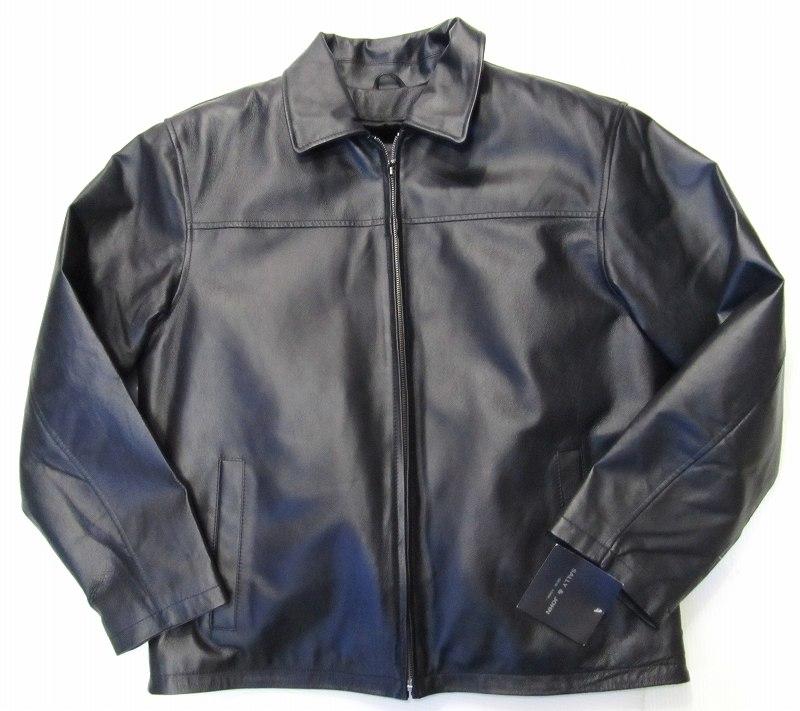 Y31)SALLY&JOHNレザージャケット黒M★US購入ビッグキングサイズ【送料無料】