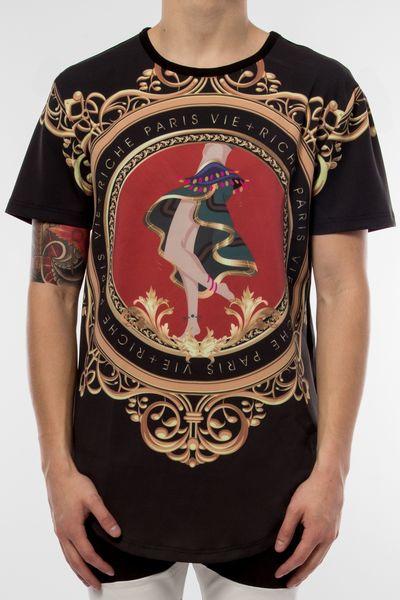 AQ93)VIE RICHE DANSONS Tシャツ半袖(V1070667)★USLANYカジュアルストリートHIPHOPB系【送料無料】