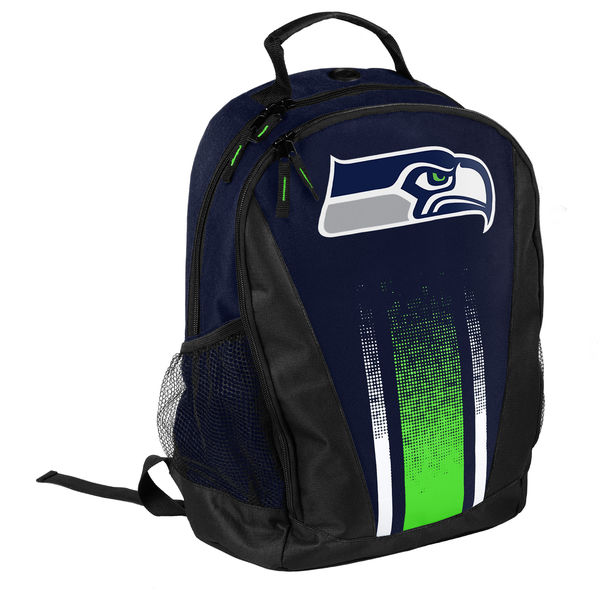 BAG81)Forever Collectibles NFL Seattle Seahawks Striped Prime Time バックパック リュック☆US購入LANYストリートカジュアルスポーツダンサーバイク【送料無料】